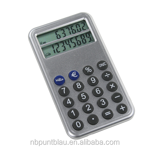 8 digitals calculator with Euro converter