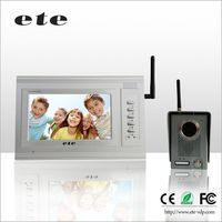 "Chinese vedio intercom system 7""tft-lcd 380tvline 7 inch color ete wireless doorbell for apartments / villa"