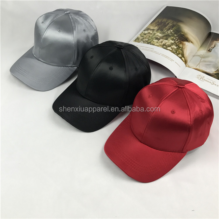 plain satin baseball cap hat dropship