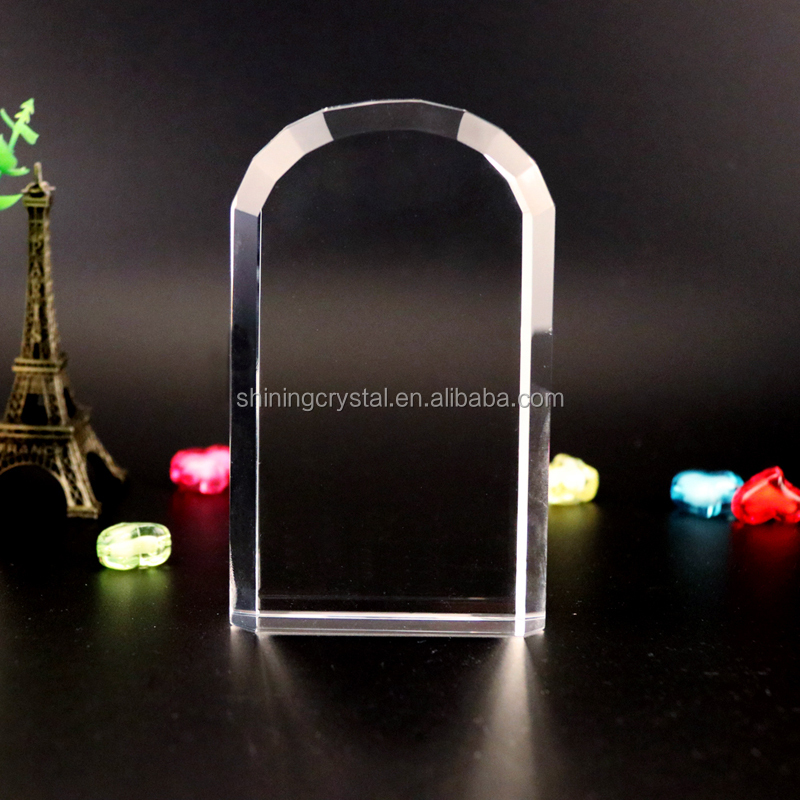 Blank arch shape crystal block for 3d laser engraving