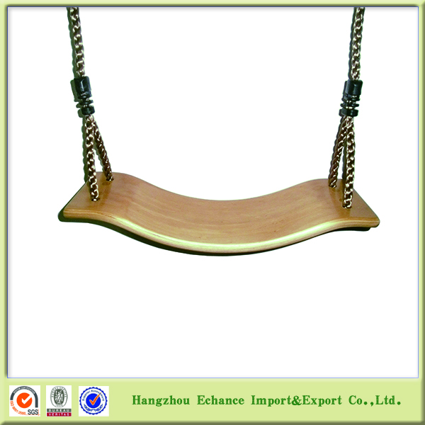 New model modern Outdoor garden PP rope kids solid wood swing