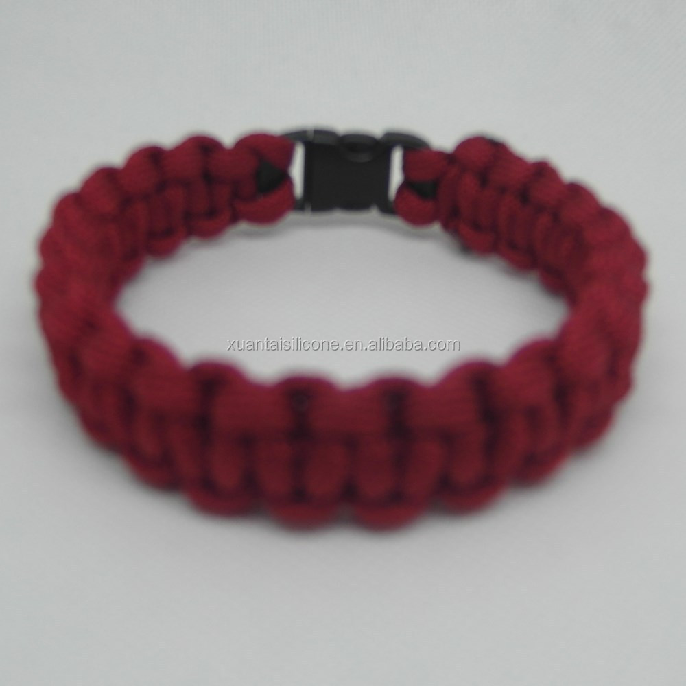 "retail and mixed batch Survival Para cord Bracelet 9"" Red in stock"