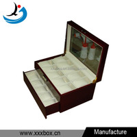 deluxe wood flat jewelry box organizer watches