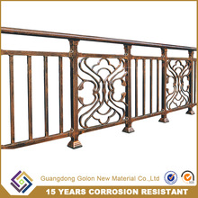 Cheap powder coated no welded metal garden fencing panel