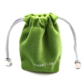 Cute design two side flannel cloth drawstring bag for jewelry
