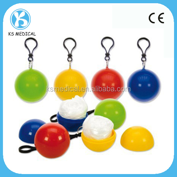 Clear plastic football rain ponchos with logo printed
