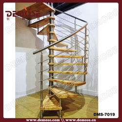 modern curved steel wood stairway/ladder