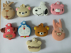 various animal shape plastic key cap silicone key head cover