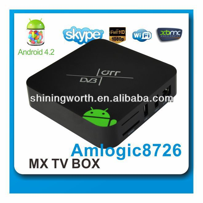 DVB T2 Android smart tv box dual tuner,support xbmc,skype, youtube,netflix