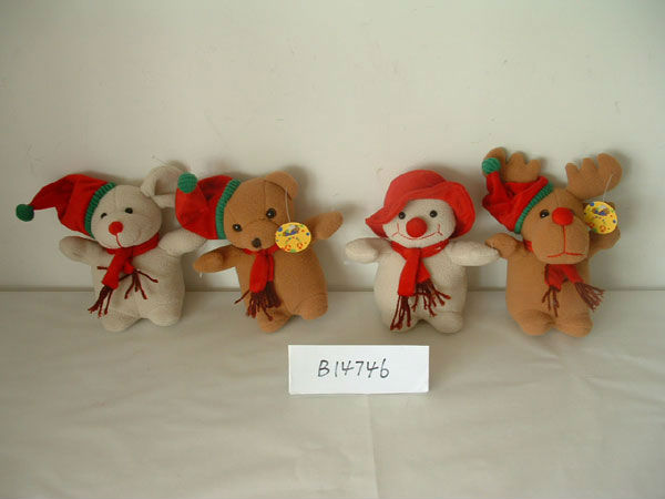 750ml promotional customized plush christmas the gingerbread man/reindeer/snowman/penguin animal cover for hot water bottle