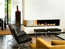 3 sided electric fireplace with remote control