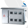 SAIP/SAIPWELL High Quality Single Phase Stainless Indoor Metal Water Meter Box