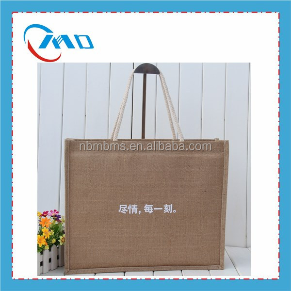 Hot Selling Waterproof Jute Shopping Tote Bag