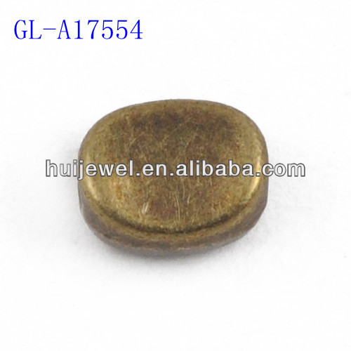 oval metal bead oval alloy bead oval bead