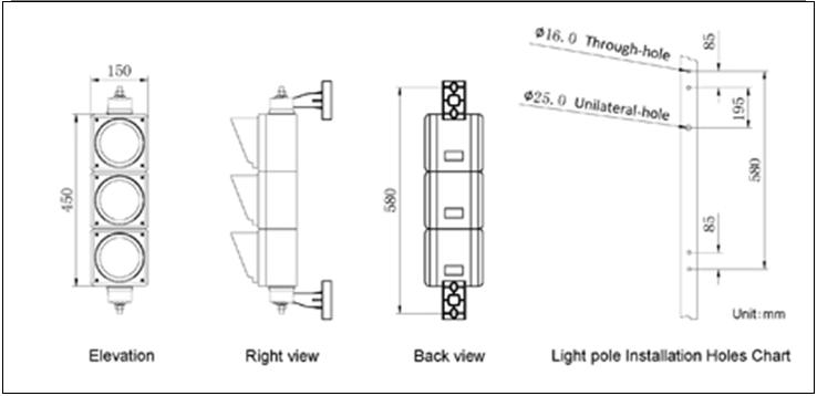 100mm led traffic signal light. jpg