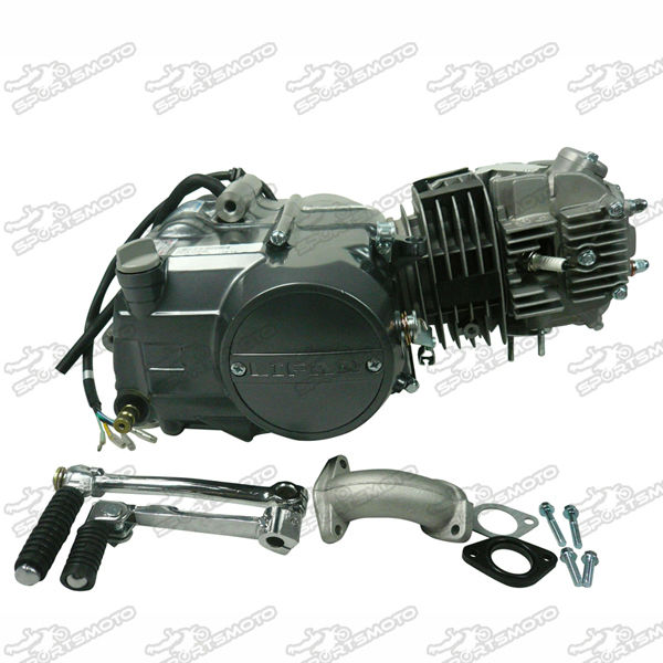 China Engine Lifan 125cc Motor Aluminum Cylinder Horizontal