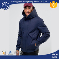 High Quality With Hood And Pocket Bule Cotton Down Men Hated Jacket