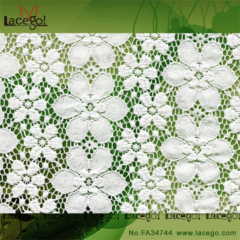 New design lace cloth for curtains white lace fabric for decoration