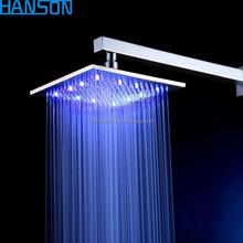 Square Water Saving waterfall Rain Smart Color Light Led Rainfall Shower Head Set Accessory Bath Shower