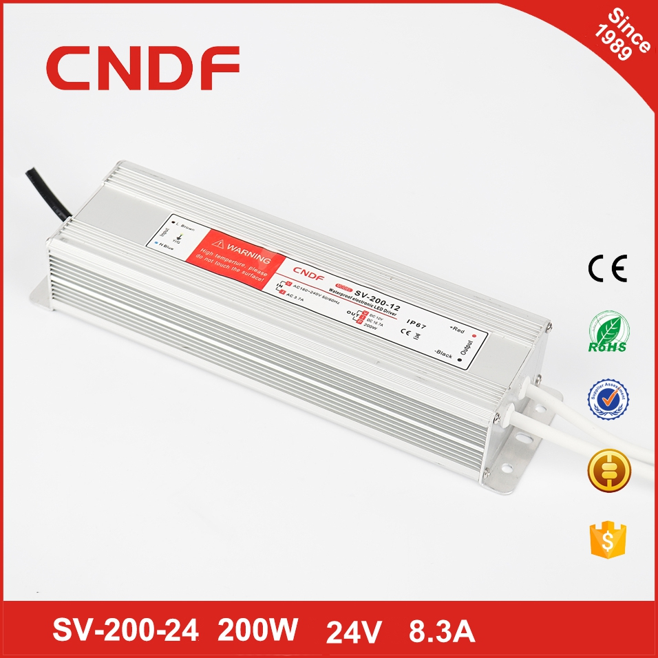 Constant voltage 200w led driver 24V waterproof electronic led power driver for led bulbs