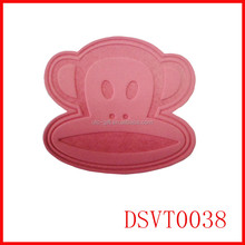 pink orangutan leisure clothing pu leather labels