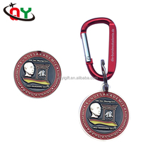 Cheap Promotional Gifts Custom Made Metal Key Ring Zinc Alloy Carabiner Keychain