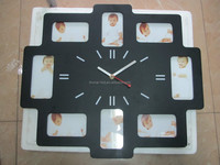 interior decoration large photo frame digital wall clock for bedroom decorating