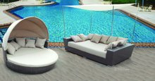 Garden Rattan Sofa Daybed with Canopy