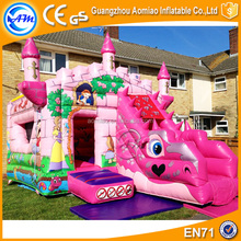 Princess inflatable bouncy castle with water slide kids jumping castle for sale