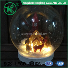 Clear Handmade Glass Christmas Gifts Glass Ball with LED Light Home Decoration