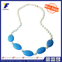 Food Grade cheap Silicone Beads Necklace for baby teeth wholesale