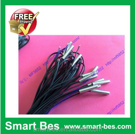 Free shipping 50pcs/lot Smart bes ntc thermistor for NTC temperature sensor 5 <strong>k</strong> + -1% 3470 stainless steel shell 5 *25,1.7 m