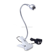 Flexible Gooseneck USB LED Reading Light Portable Table Clip Lamp Energy Saving Computer Laptop Book Light Cold White Black