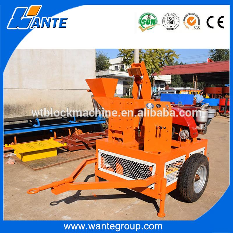 WT1-20M hot sale africa diesel motor laterite cheap clay bricks machine paver block plant