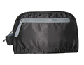 Polyester zipper and handle men toiletry bag