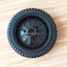 8x2 inch semi pneumatic rubber wheel with bar tread for mowers