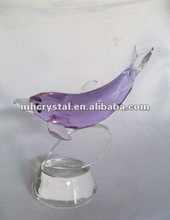 Handcrafted Cut Purple Crystal Dolphin MH-D0266