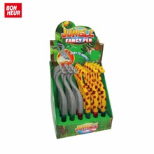 New design jungle animal giraffe shape plastic gel ballpoint pen