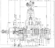Chengdu large subcritical reheat extraction steam condensing turbine (300mw)