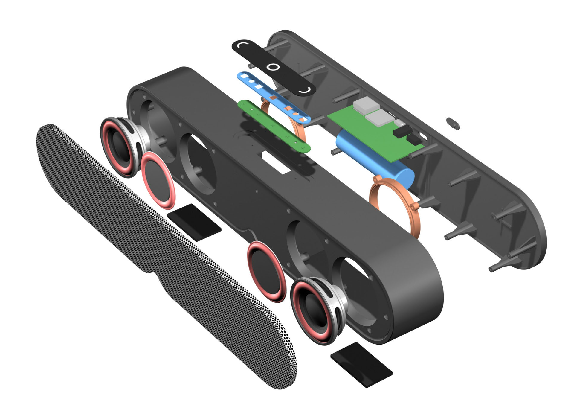 360 surround sound 10W soundbar miniso Bluetooth speaker built-in 2000mah battery