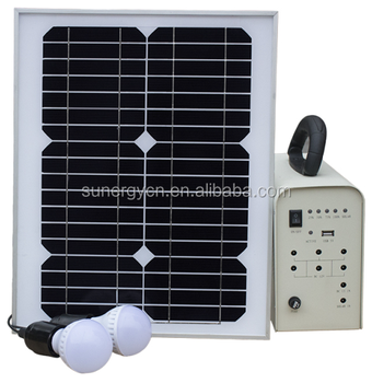 lead acid 20W 18V solar lighting system home 2pcs 3W led AC charger