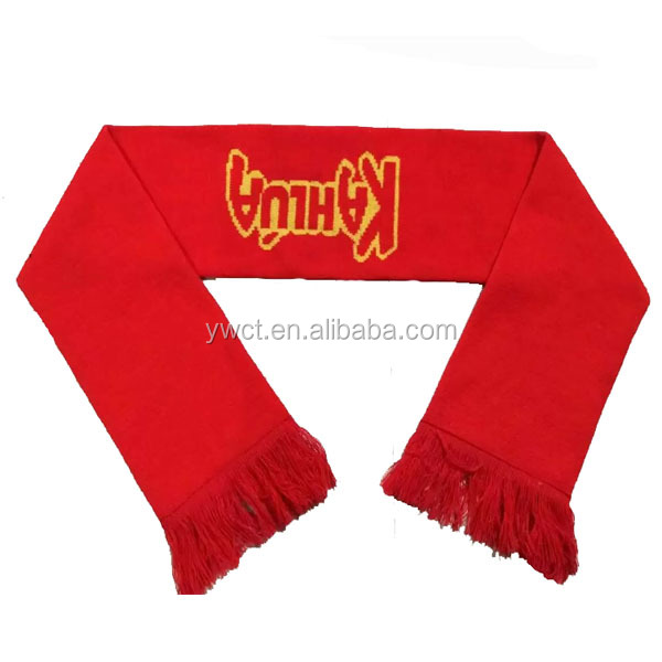 Unisex Thick Knitting Winter Scarf Plain Acrylic Yarn Knit Red Scarfs