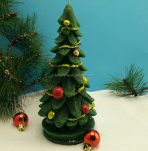 Christmas tree shape colorful candle for Christmas day,Birthday party deco