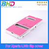 Flip leather cover for Sony L36h Xperia Z double window design