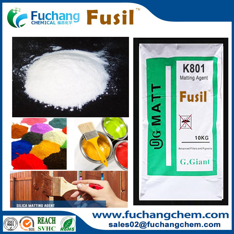 Paint coating absorbed flatting agent precipitated porous silica