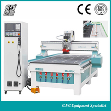 Jinan linear auto tool change 6/8 positions Syntec Italy 9kw HSD Japan servo 1325 wood atc cnc router