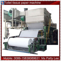 2880mm waste paper, cellulose and rayon pulp recycling Toilet paper making machine, 10-15 T/D,