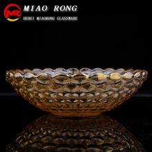 Wholesale high end quanlity colored crystal glass fruit bowl