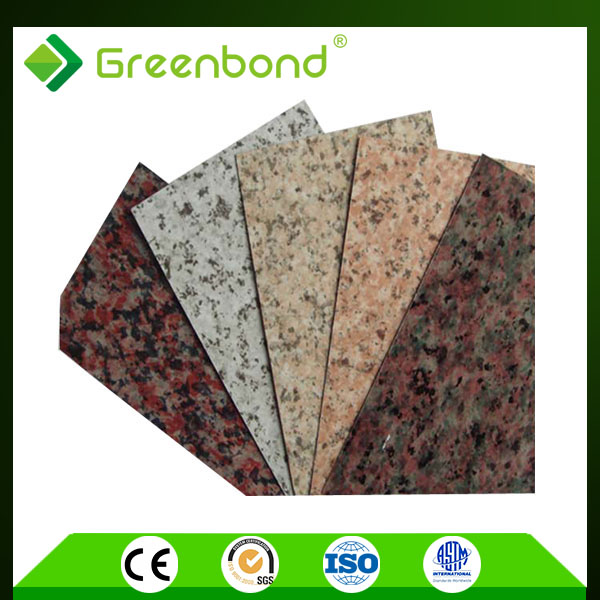 Greenbond marble finish aluminum composite commercial kitchen wall materials