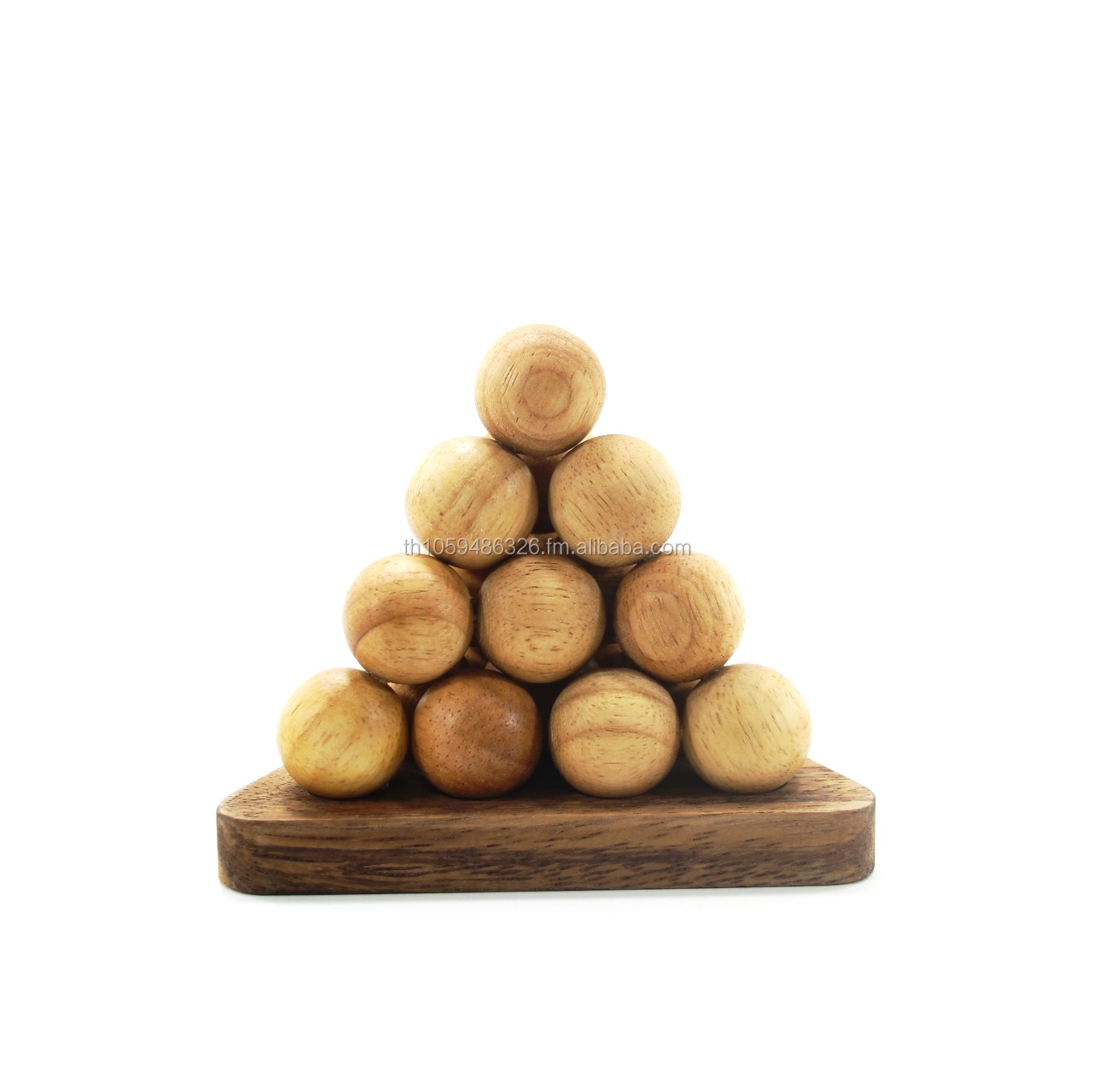 Ball Pyramid Wooden Puzzle